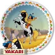 8 Teller Indianer Yakari