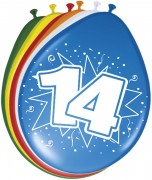 8 Luftballons Zahl 14