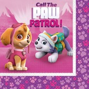 20 Servietten Paw Patrol Pink