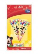 6 dreieckige Geschenktüten Mickey Mouse