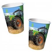 8 Becher Traktor