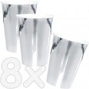 8 Becher Metallic-Silber