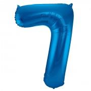 Folienballon Zahl 7 - in Blau