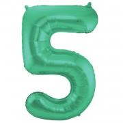 Folienballon Zahl 5 - in Grün