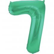 Folienballon Zahl 7 - in Grün