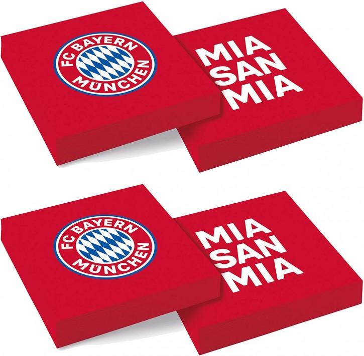 20 Servietten FC Bayern München