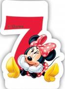 Zahlenkerze #7 - Minnie Maus