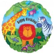 Folienballon Safari - Happy Birthday
