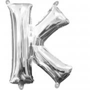 Folienballon Buchstabe K - in Silber