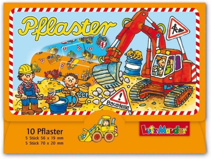 10 Kinder-Pflaster Baustelle