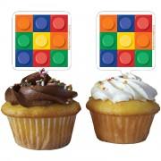 12 Cupcake Deko-Sticks Bausteine