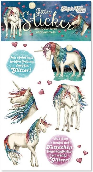 Einhorn Lunabelle Glitter-Sticker