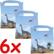 6 Geschenkboxen Dinos und T-Rex