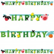 Happy Birthday Banner Farm Fun