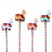 4 Bleistifte mit Radiergummi - Lama