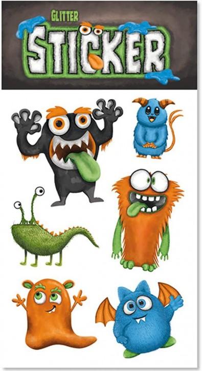 Monster Glitter-Sticker