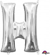 Folienballon XXL-Buchstabe H - in Silber