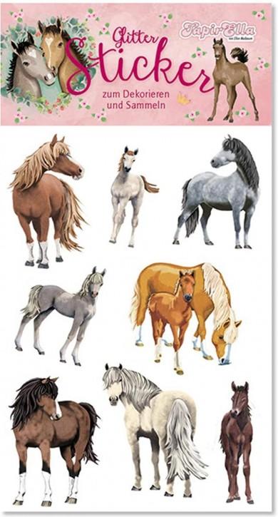 Pferde Glitter-Sticker