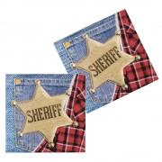 12 Servietten Sheriff