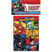 6 Einladungen + Umschläge Justice League