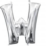 Folienballon Buchstabe W - in Silber