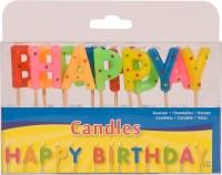 Kerzenständer und Kerzen - Happy Birthday