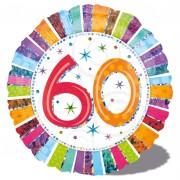 Folienballon 60. Geburtstag - Ohne Helium