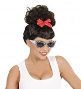 Sonnenbrille Rockabilly mit Zebra Muster