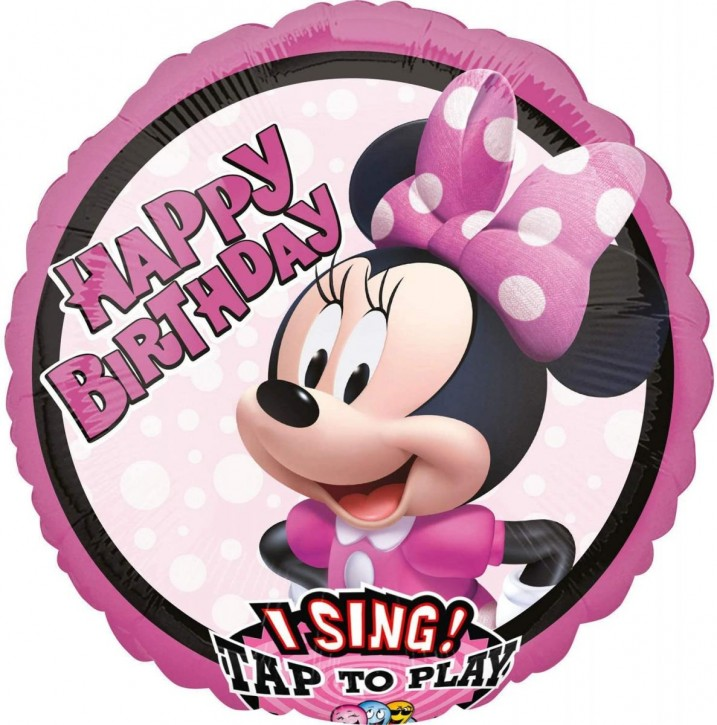Singender Folienballon Minnie Maus