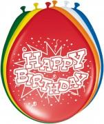 8 Luftballons Happy Birthday