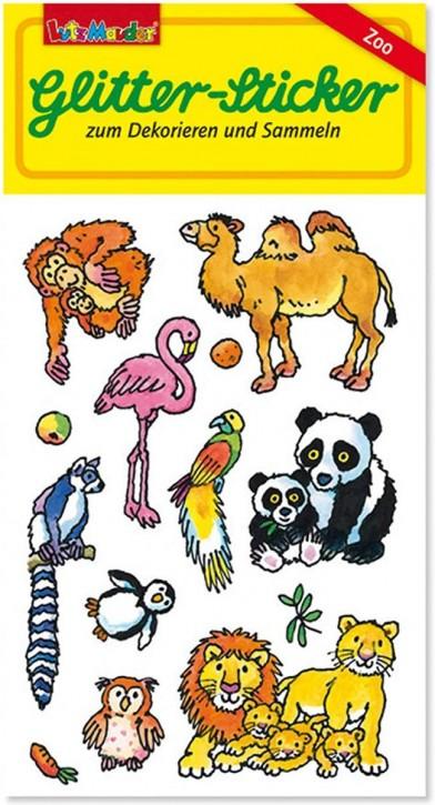 Zootiere Glitter-Sticker