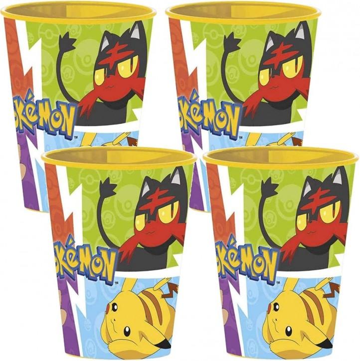 4 stabile Becher Pokémon