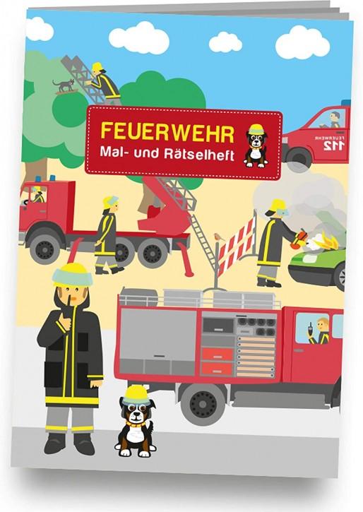 Mal- und Rätselheft Feuerwehr