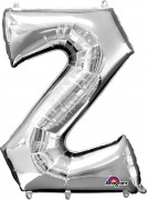 Folienballon XXL-Buchstabe Z - in Silber