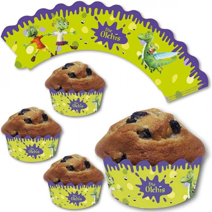 12 Cupcake Deko-Banderolen Die Olchis