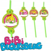 6 Trinkhalme Bibi Blocksberg