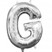 Folienballon Buchstabe G - in Silber