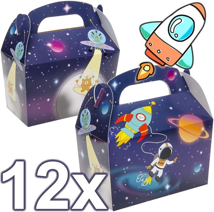 12 Geschenkboxen Weltraum