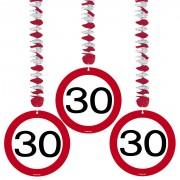 3 Dekospiralen 30. Geburtstag