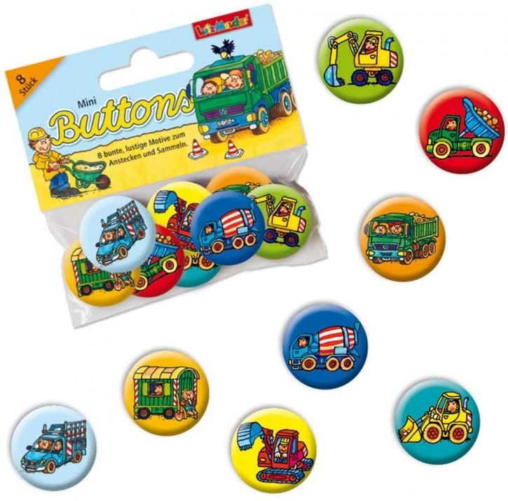 8 Mini-Buttons Baustelle