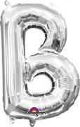 Folienballon XXL-Buchstabe B - in Silber