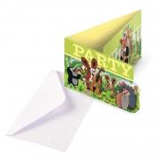 8 Einladungen + Umschläge Der kleine Maulwurf