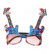 Brille amerikanische Rockgitarre