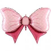XXL-Folienballon Schleife - rosa