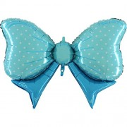 XXL-Folienballon Schleife - blau
