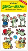 Mäuse Glitter Sticker