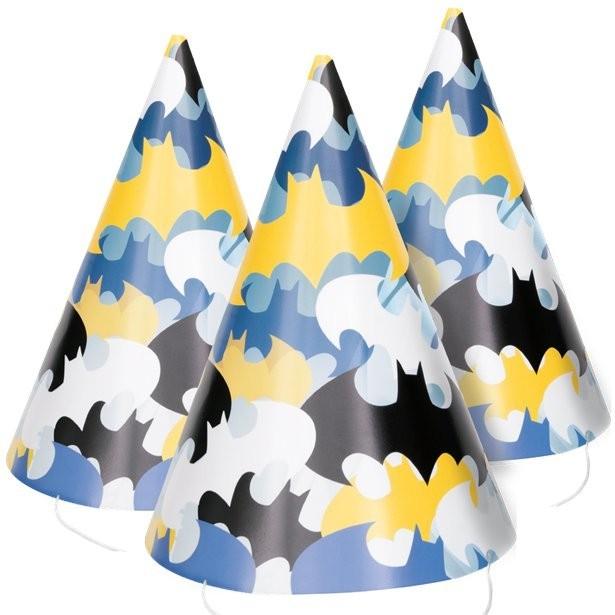 8 Partyhütchen Batman