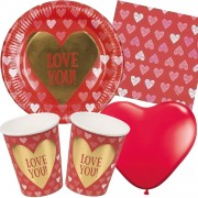 49-teiliges Party-Set: Love You
