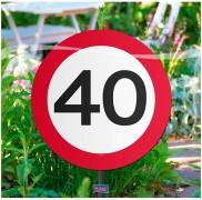 Garten-Deko 40. Geburtstag
