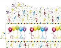 Tischdecke Happy Birthday Streamers